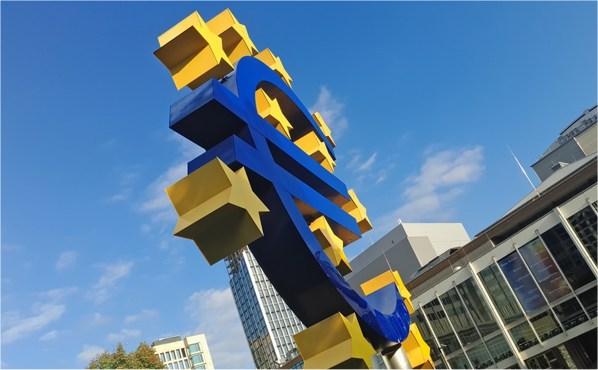 eurozone euro teken gele sterren